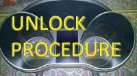 Unlock procedure for cluster W190/205/447 2013-08.2018