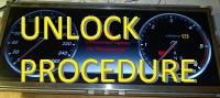 Unlock procedure for cluster W217/222 2014-2016years